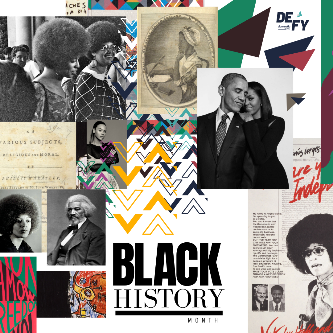 Black History Month sub-brand created by Owl Street Studio for Defy Domestic Abuse Beloit