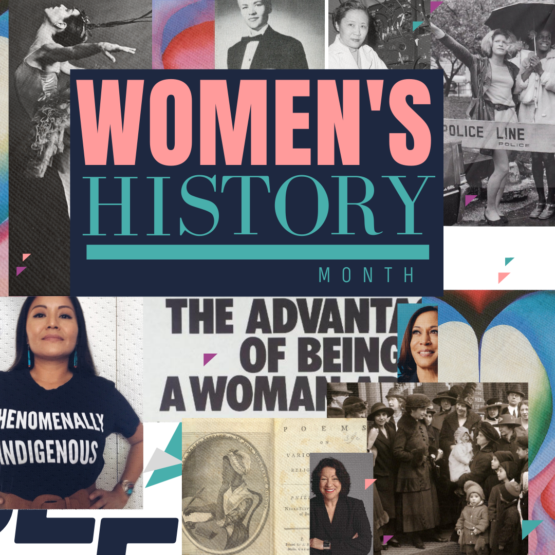 Women's History Month sub-brand created by Owl Street Studio for Defy Domestic Abuse Beloit