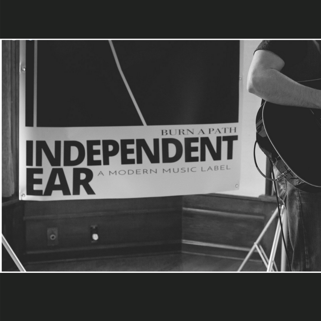 Promotional poster created by Owl Street Studio for Independent Ear Records
