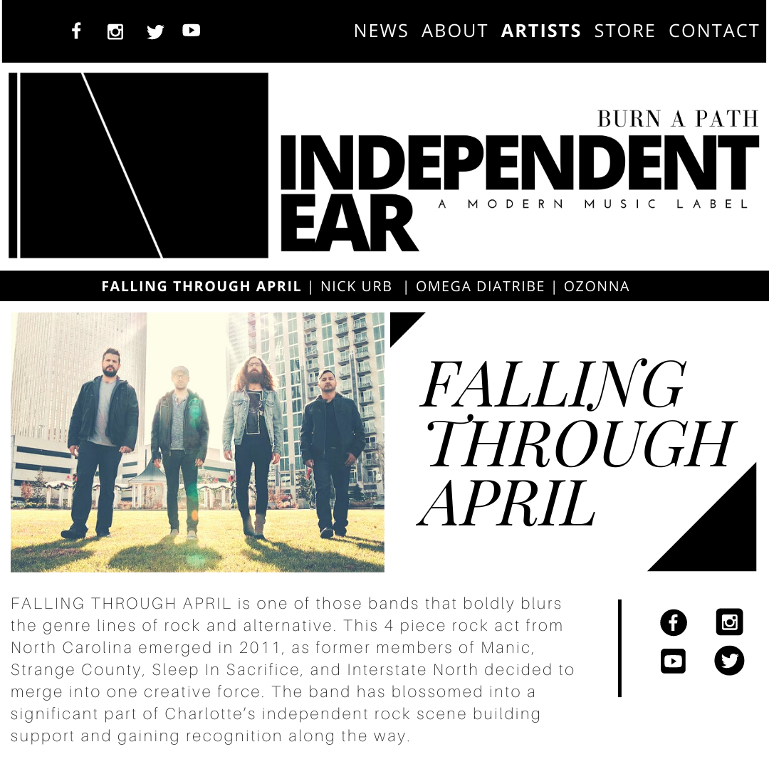 Web design created by Owl Street Studio for Independent Ear Records