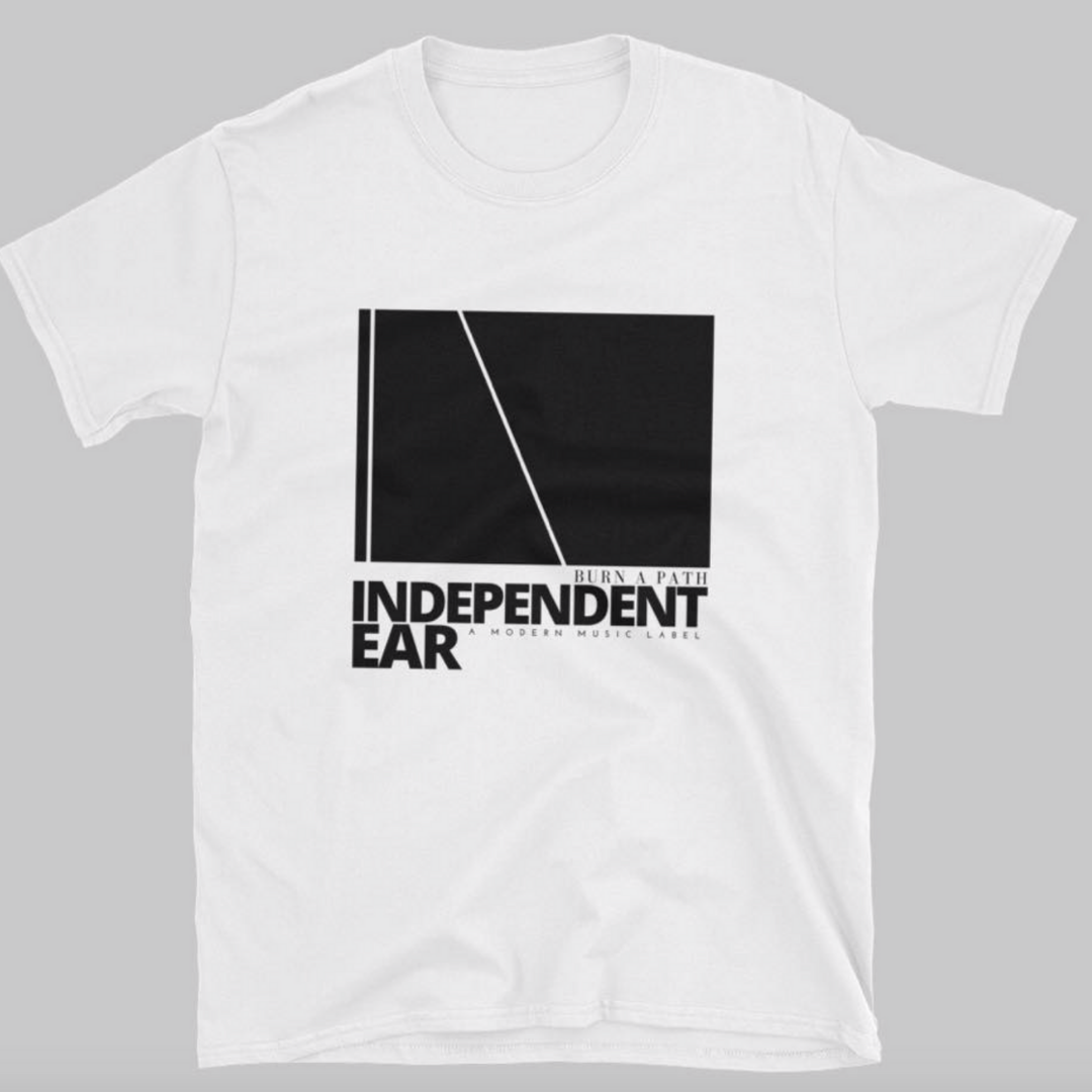 Tshirt design created by Owl Street Studio for Independent Ear Records