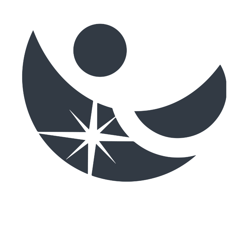 Abstract logo mark created by Owl Street Studio for Dawn of Light