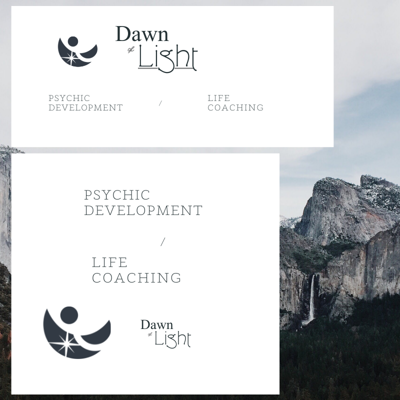 Logo created by Owl Street Studio for Dawn of Light