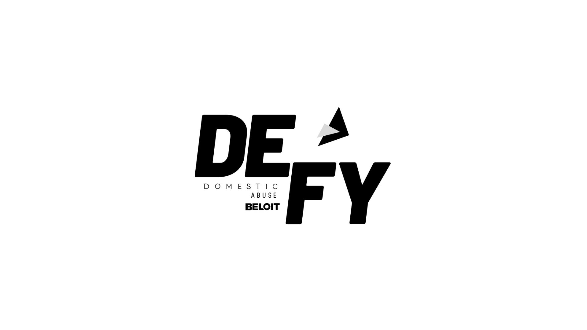 Brand logo created by Owl Street Studio for Defy Domestic Abuse Beloit