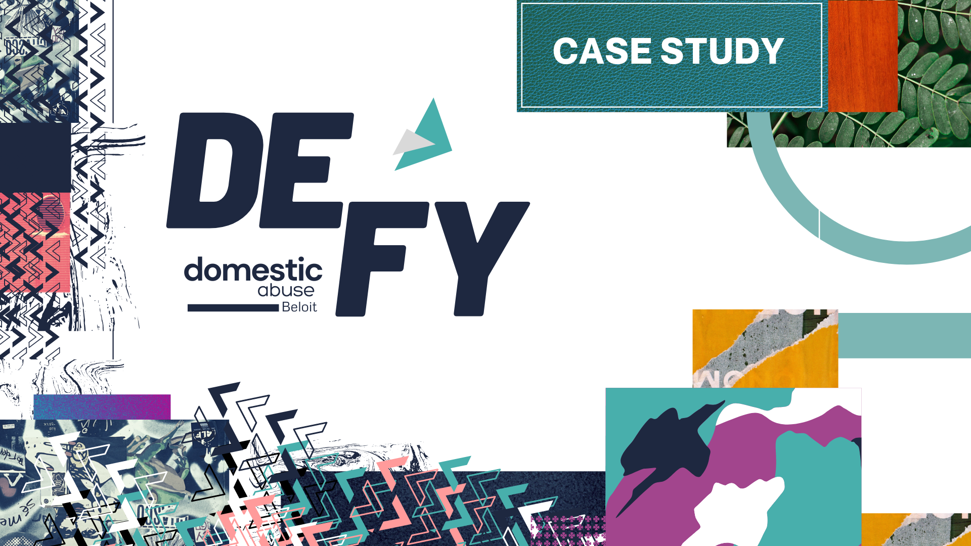 Title card for the Defy Domestic Abuse Case Study by Owl Street Studio