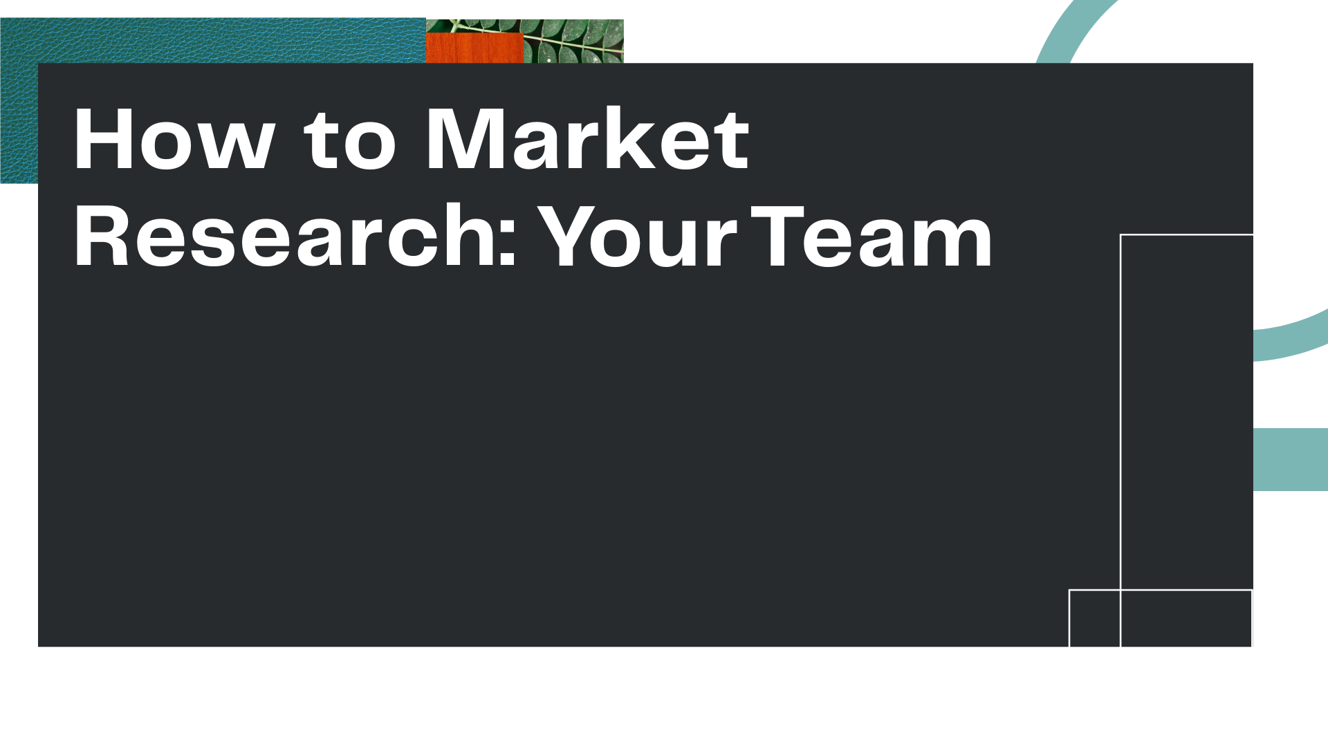 """Title Card for Owl Street Studio's episode of Marketing, Empathy, & You, """"How to Market Research: Your Team"""""""