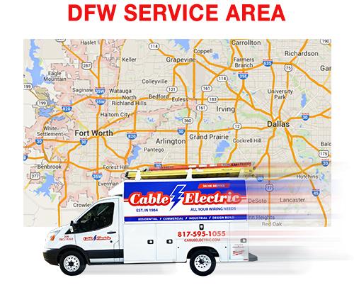 DFW service area map