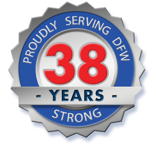 38 years of service badge