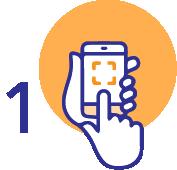 Hand touching phone