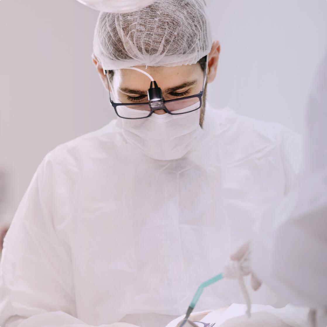 A dental surgeon