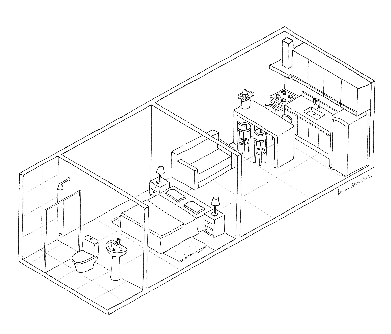 apartamento tipo estúdio ou kitnet