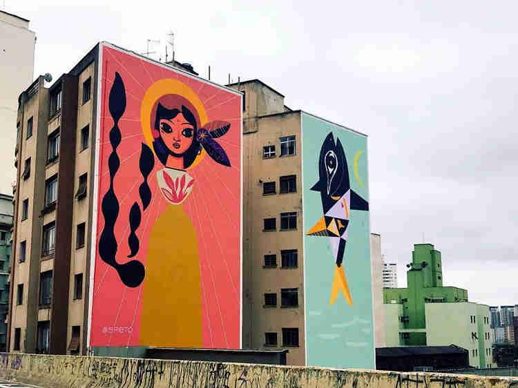 grafites vistos do minhocão
