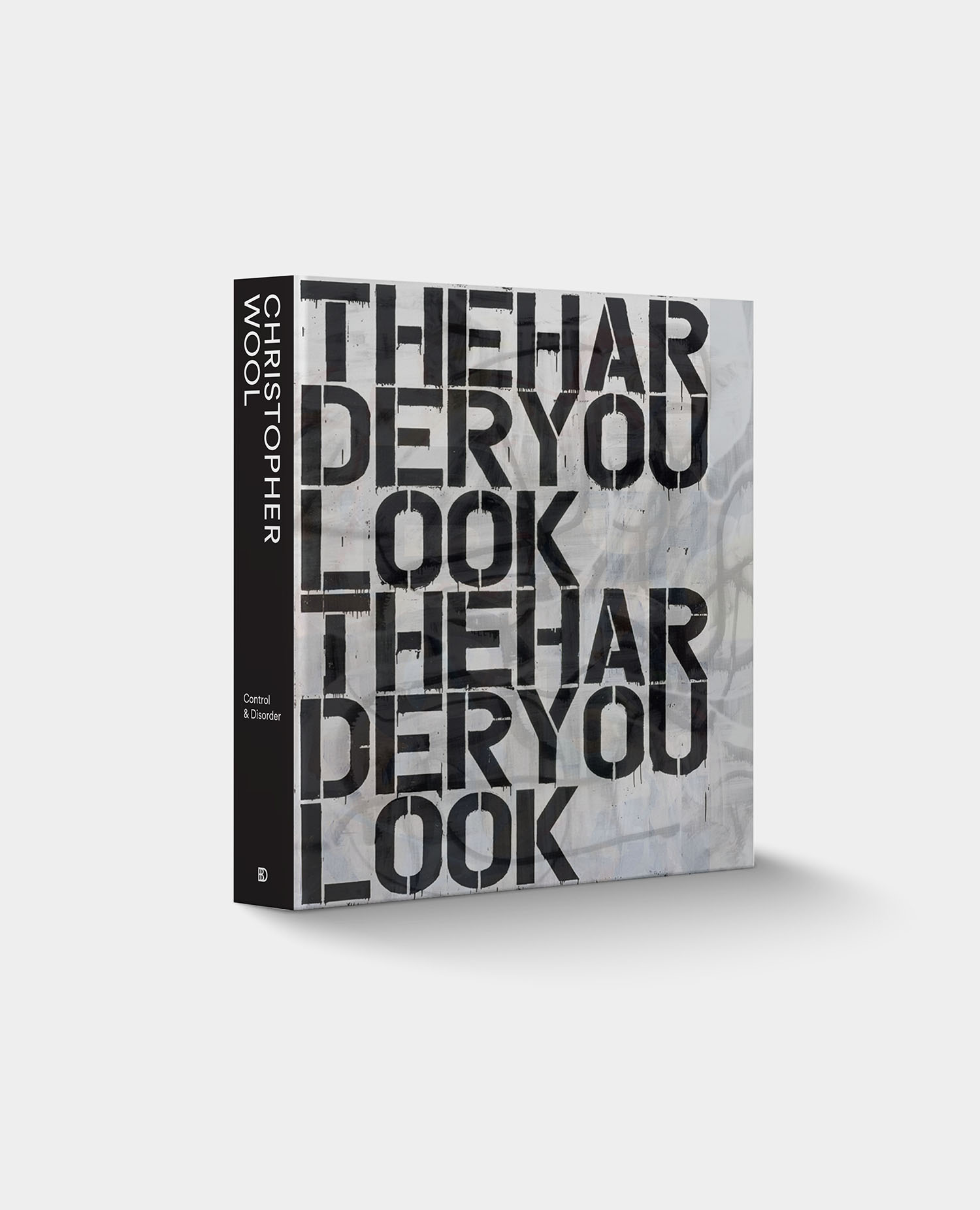 Design of Christopher Wool Book Cover.