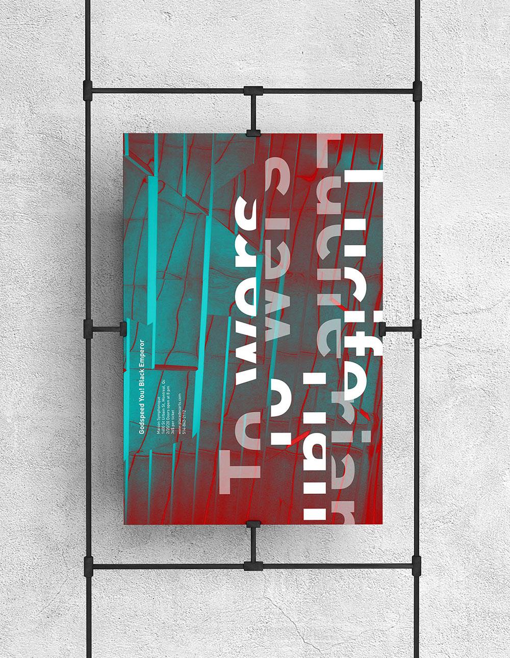 Poster design for Godspeed You! Black Emperor Concert.