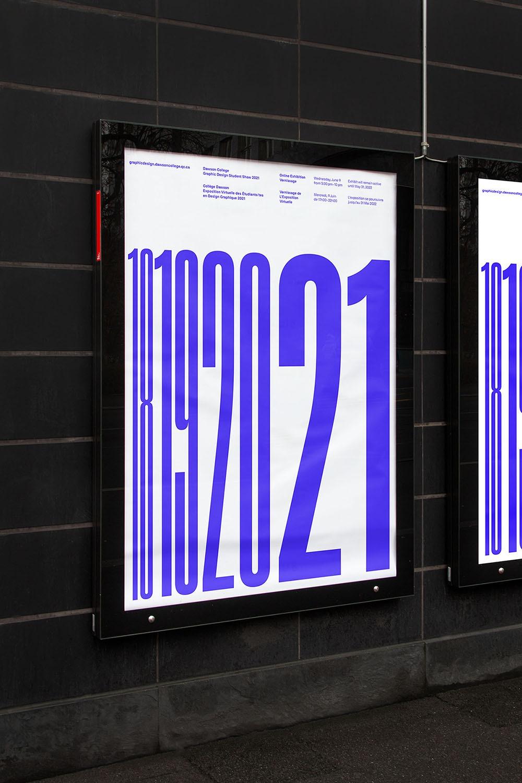 Poster design for a graphic design student vernissage.