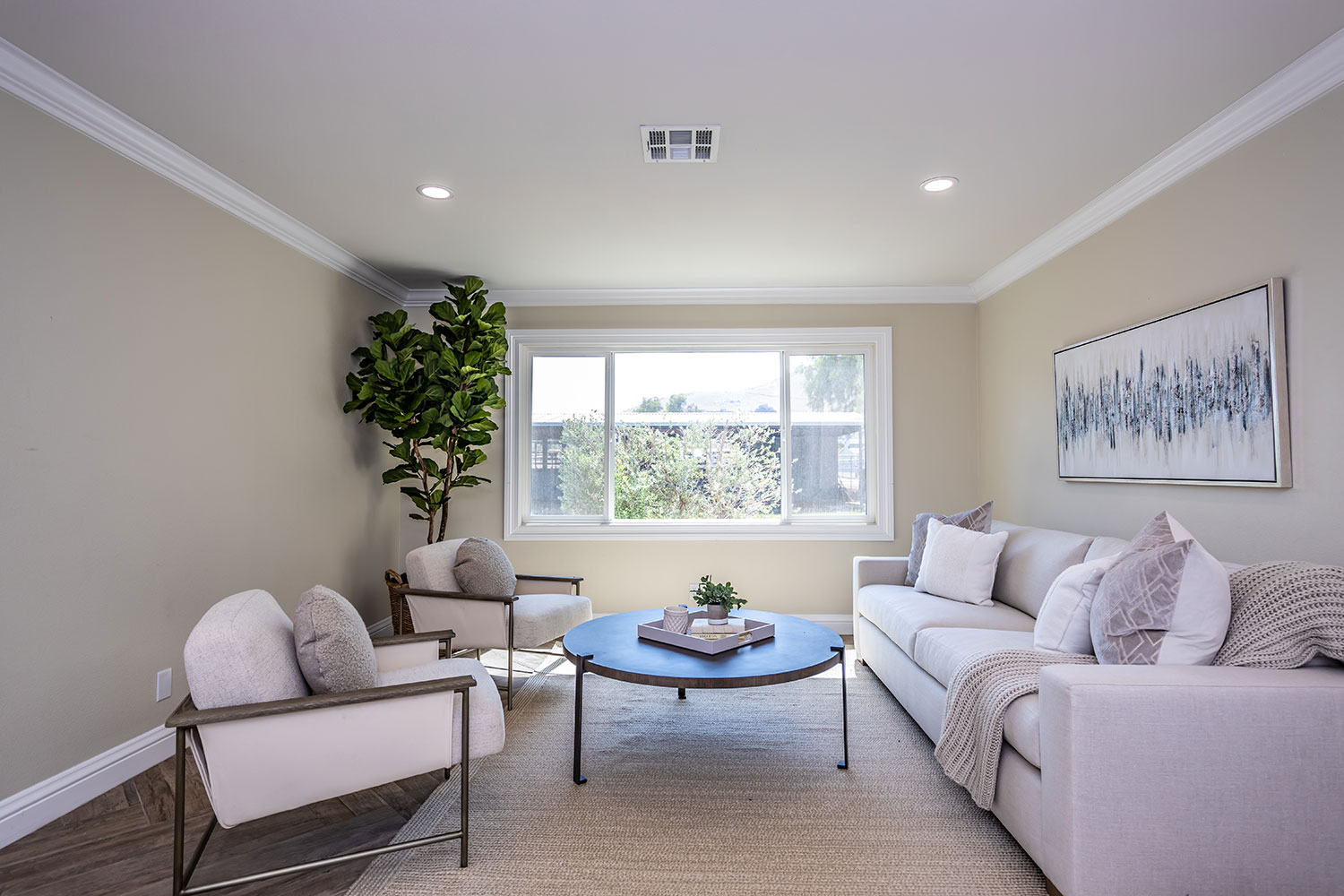 light and bright living space in Norco