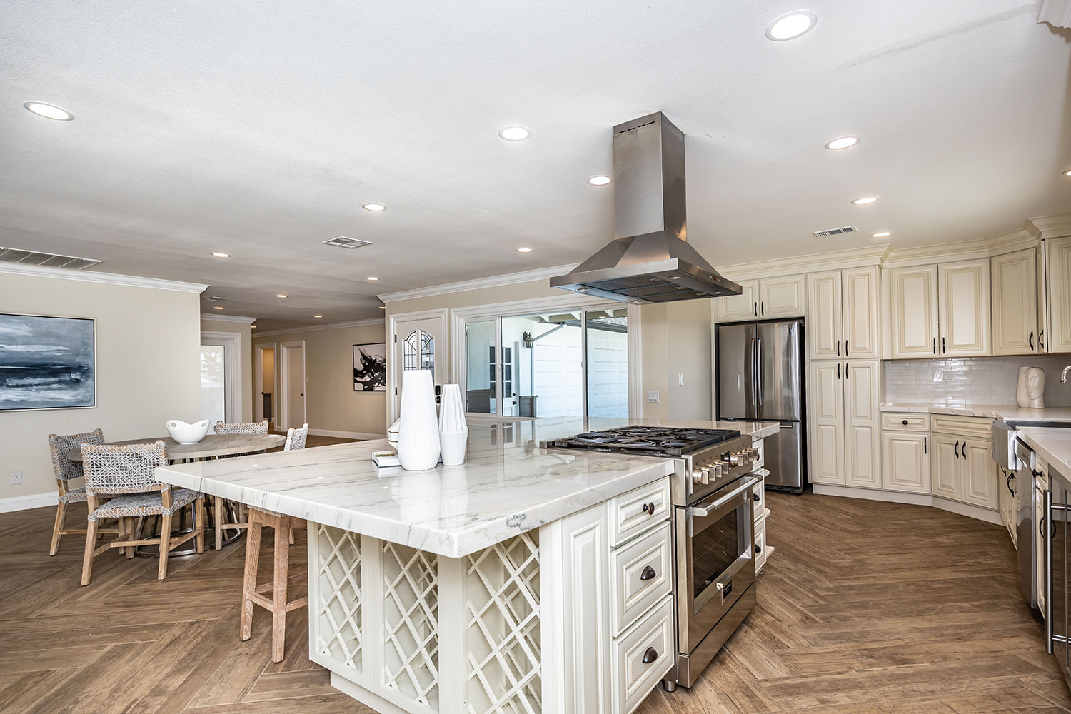 kitchen island and hood in Norco