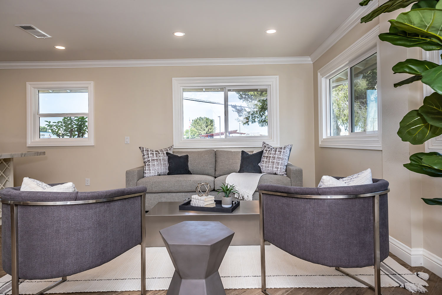 custom chairs in living room design