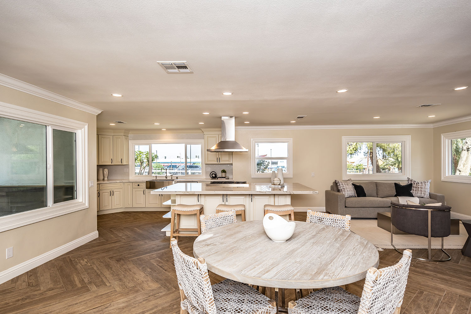 open layout interior design in Norco