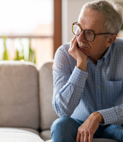 A man with generalized anxiety disorder (GAD)