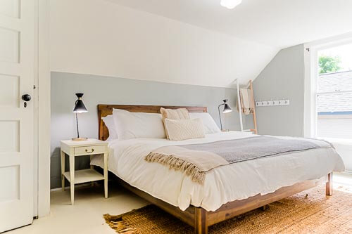 Bedroom on second floor of Airbnb home