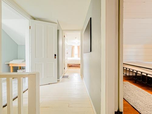 Second floor entryway into bedrooms and bathroom