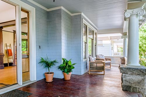 Front porch in from of NE Portland home