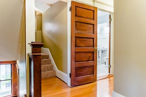 Entryway into stairway to third floor