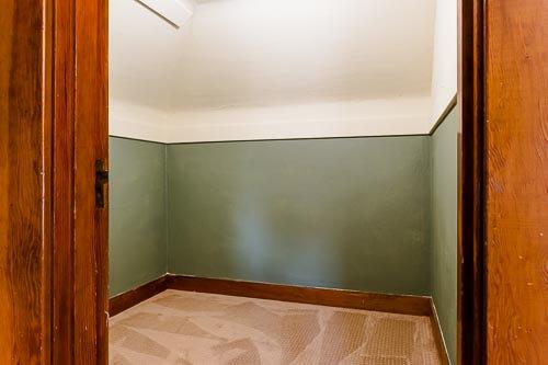 Closet in third floor bedroom