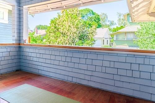 Second floor outdoor patio in NE Portland OR home