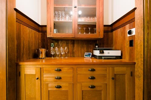 Beverage and alcohol cabinet in NE Portland home