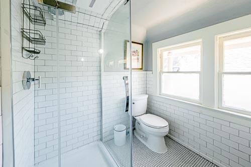 Bright and clean bathroom in NE Portland home