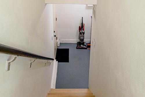 Stairways to laundry area