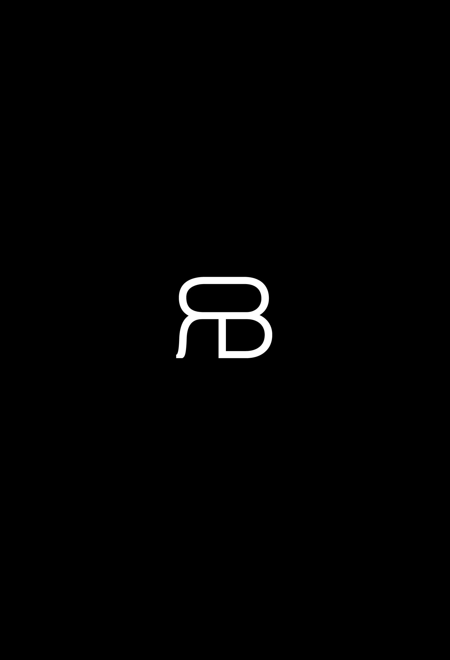 raluca buzura monogram white on black