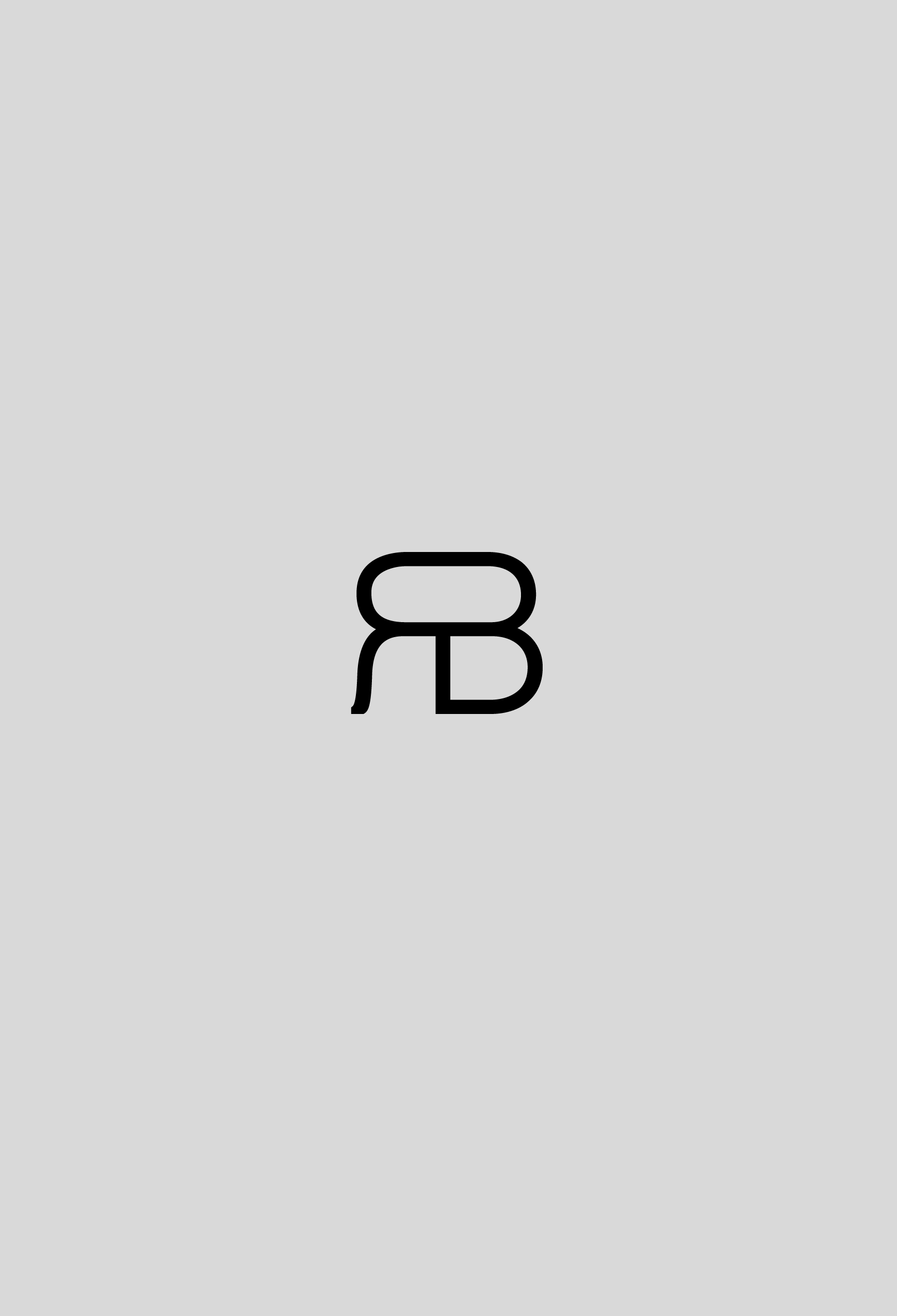 raluca buzura monogram black on light background