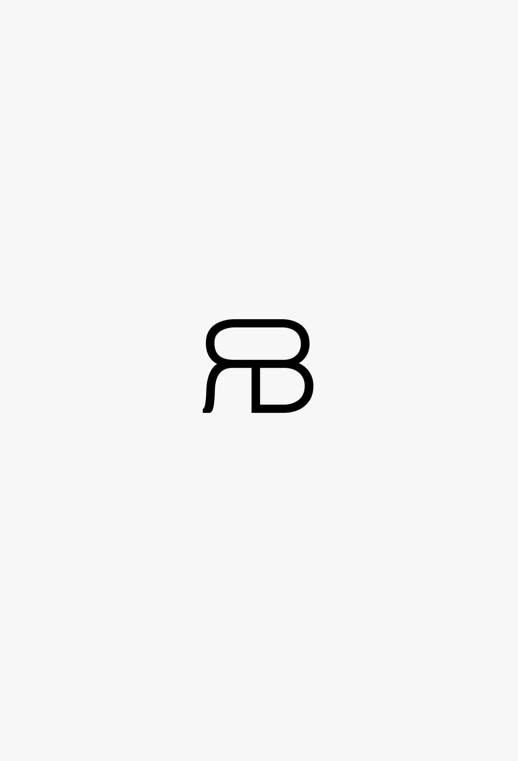 raluca buzura monogram black on white