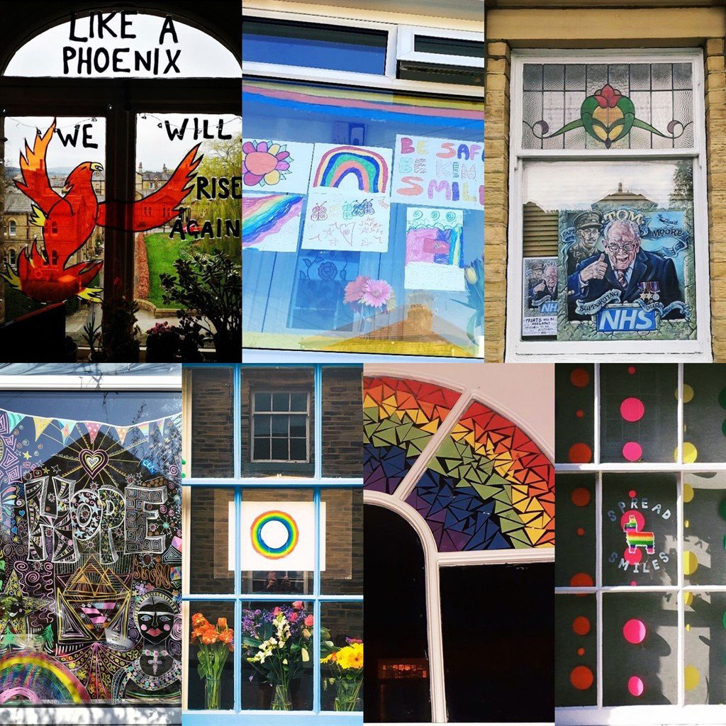Images of NHS pride flags during the COVID-19 pandemic