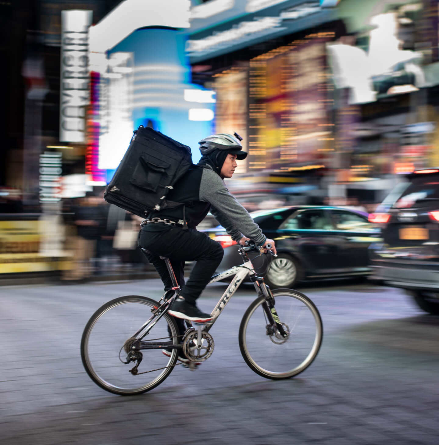 Gig economy worker on a bicycle