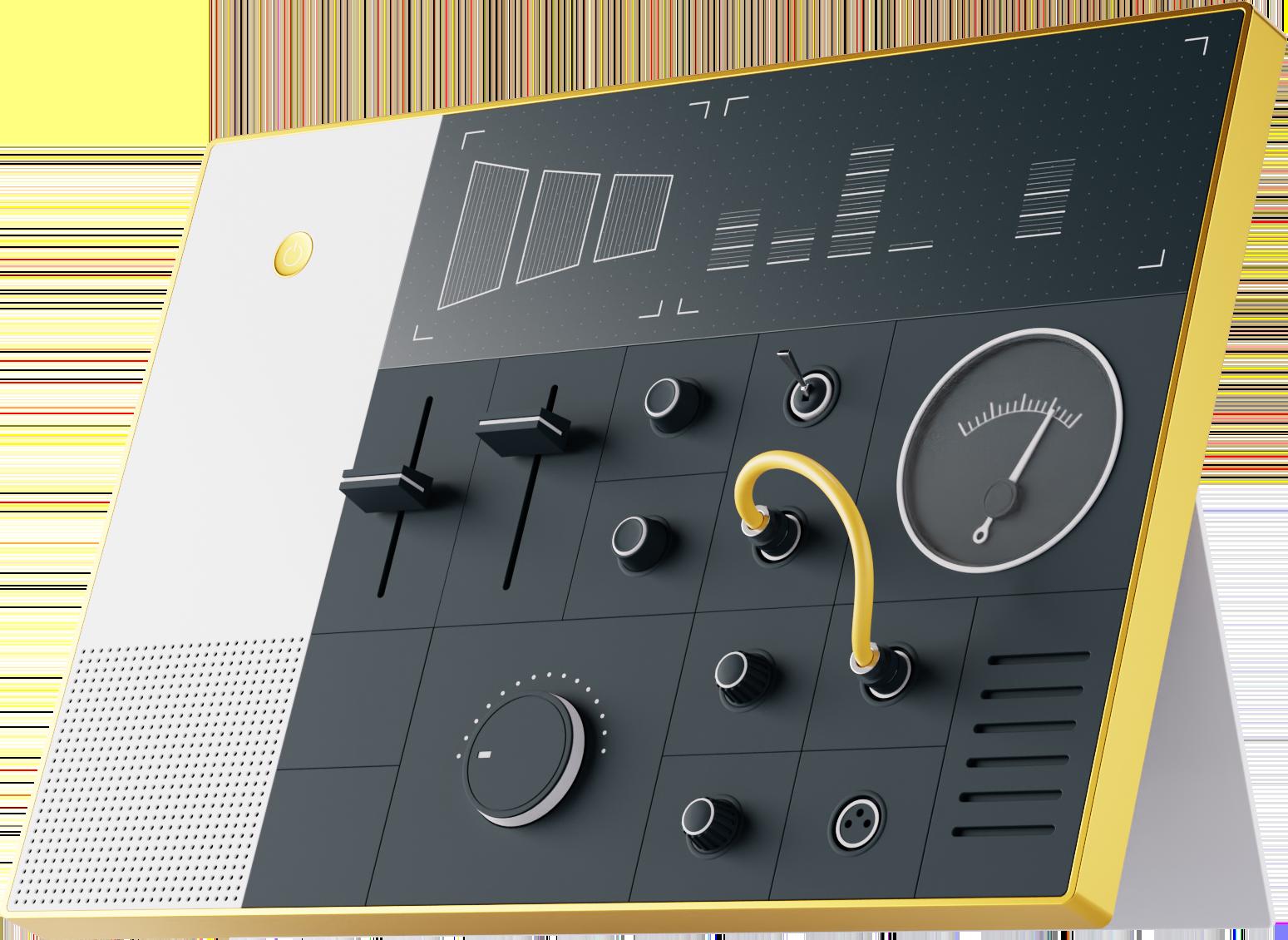 Illustration of the 3D Livestorm dashboard.