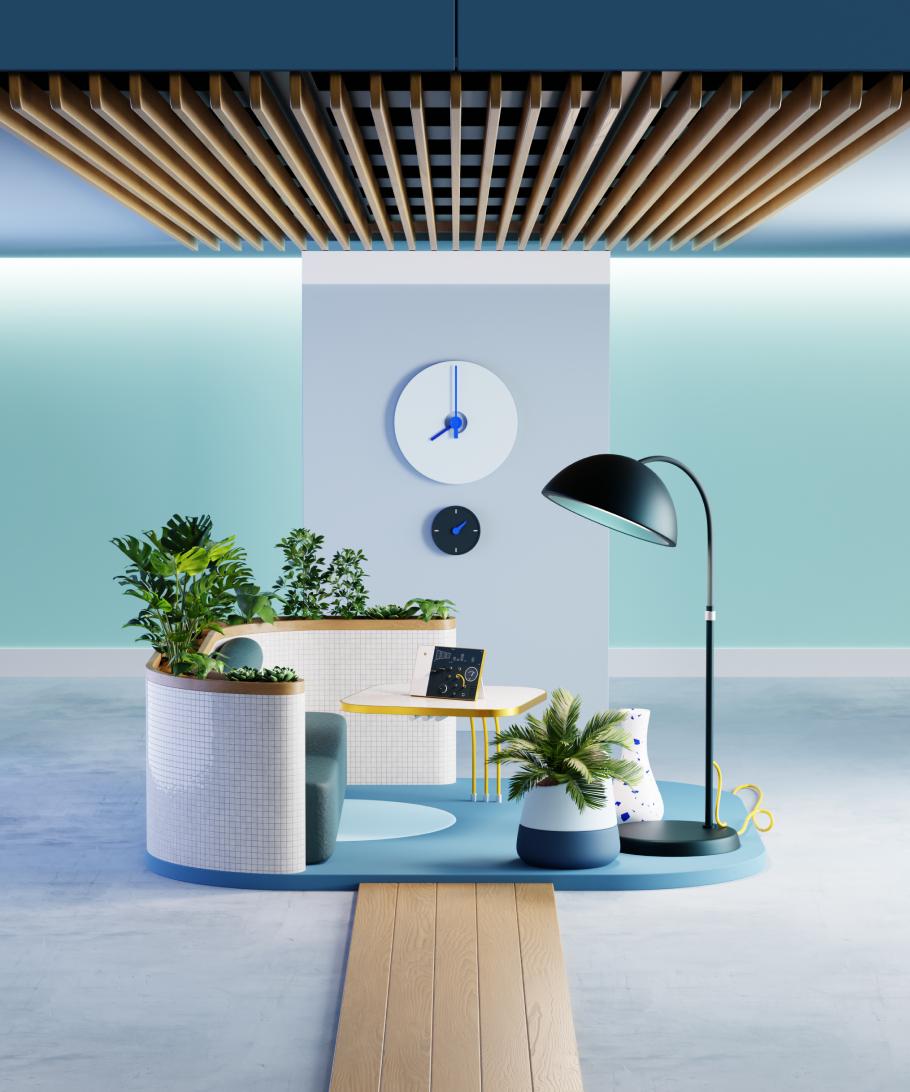 The 3D room illustration