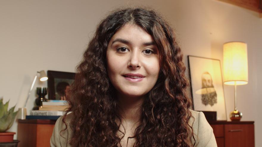 Eva Garcia face camera photography.