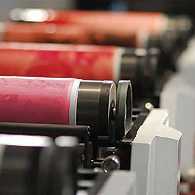 Printing solutions, flexographic printing cylinders