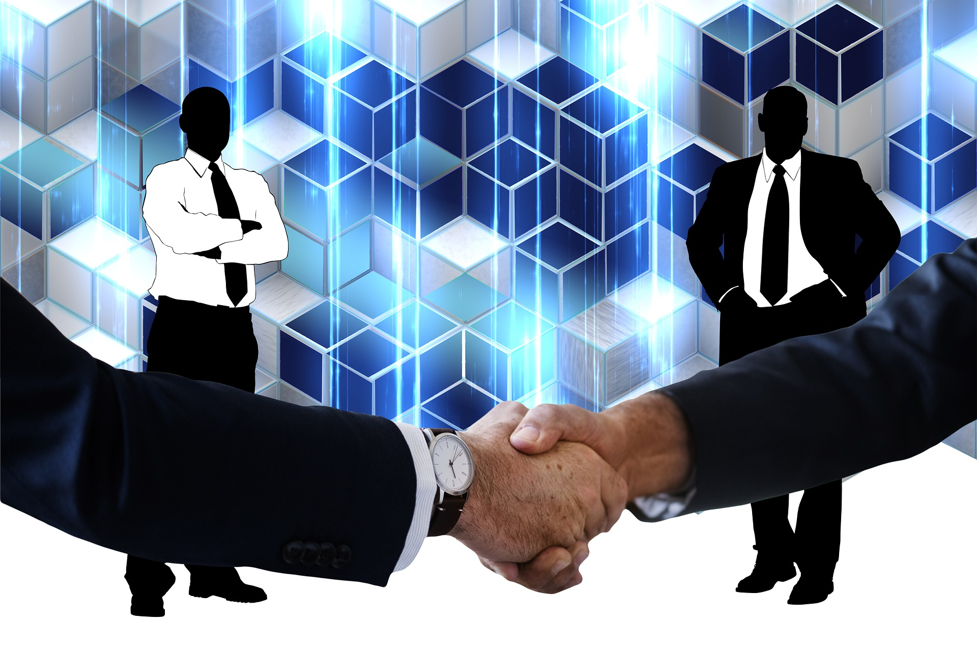 Businesspeople agreeing with handshake