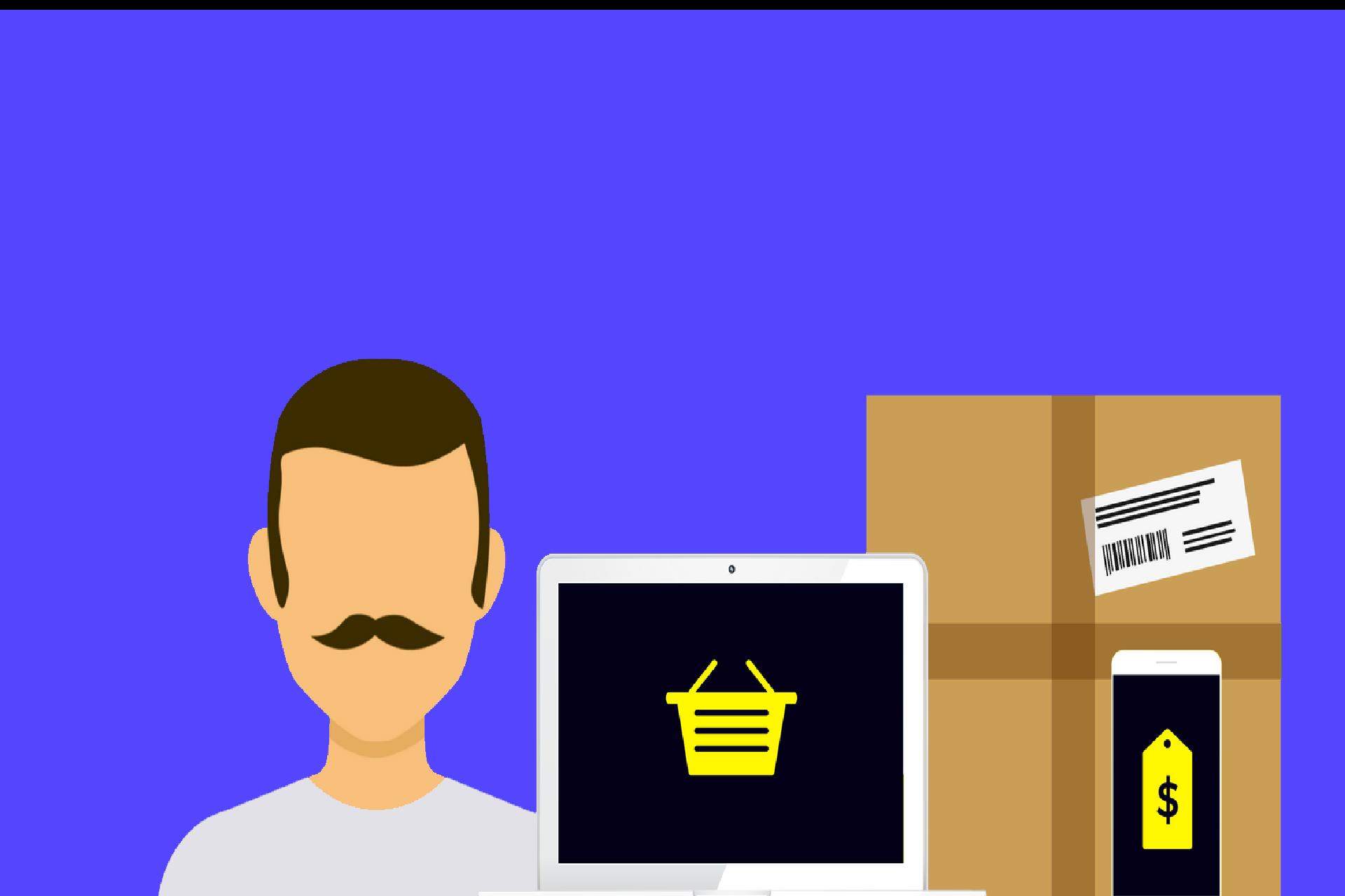 e-commerce man