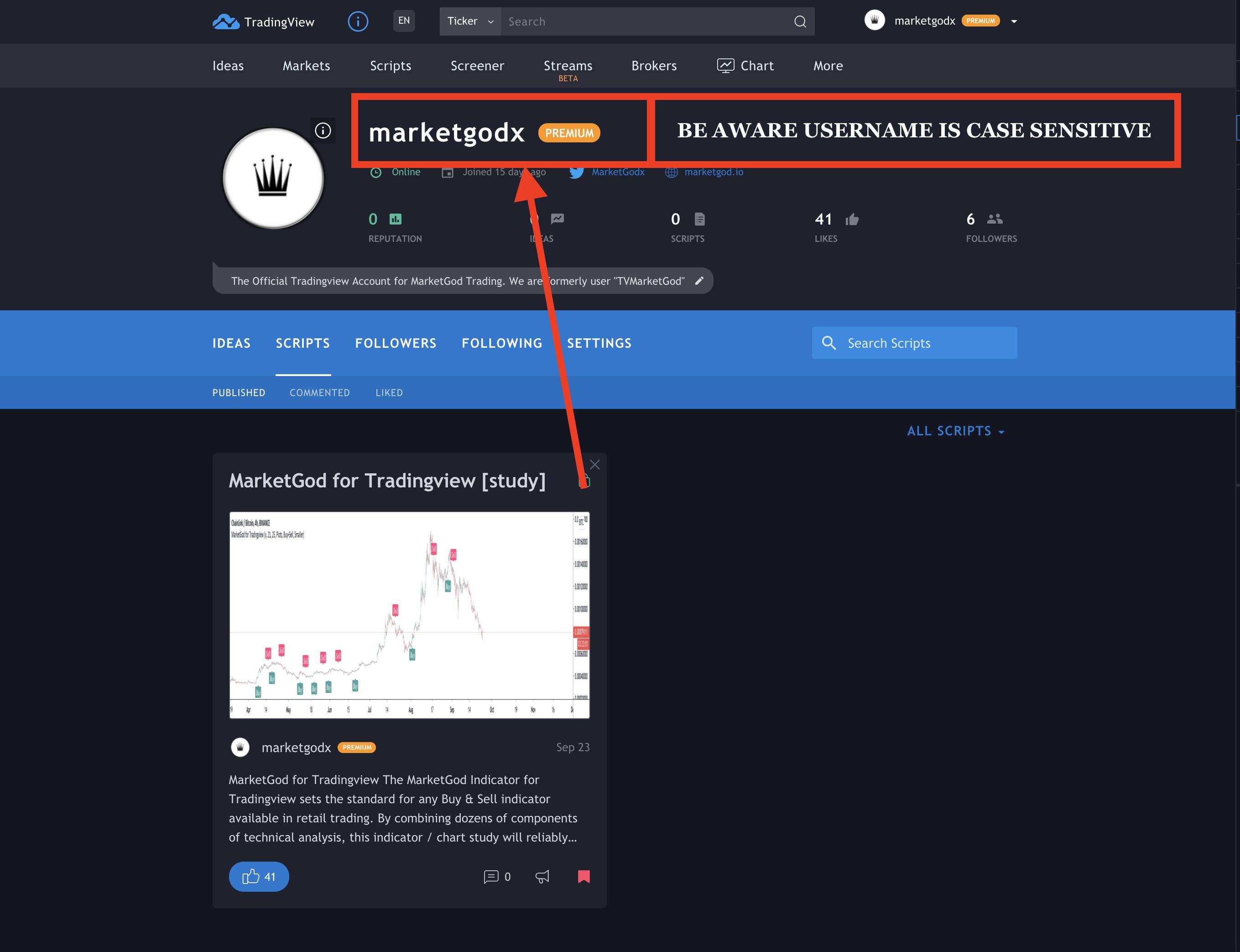 MarketGod Trading Registration Username