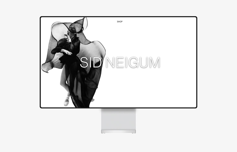 desktop website of sid neigum brand