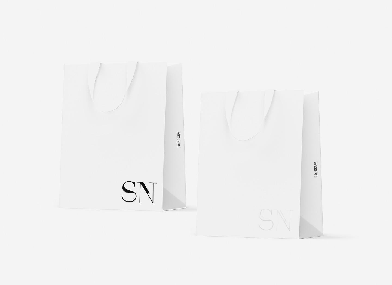 branded shopping bags mockup