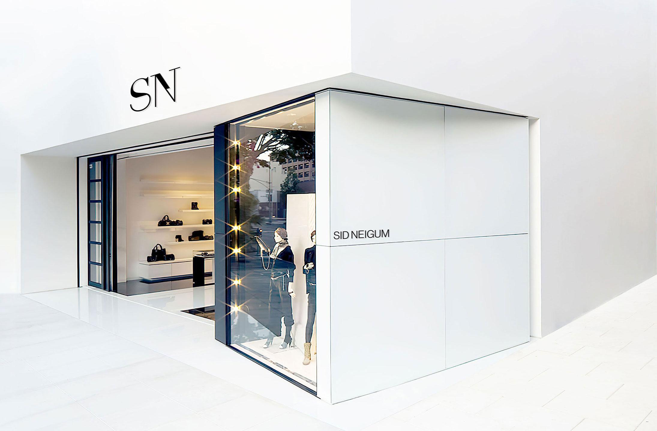 Sid Neigum white modern storefront mockup