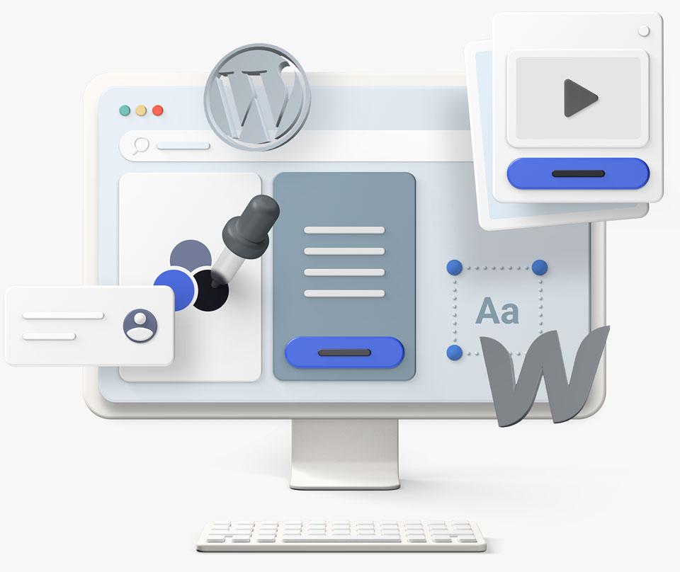 3D Webdesign Objekte