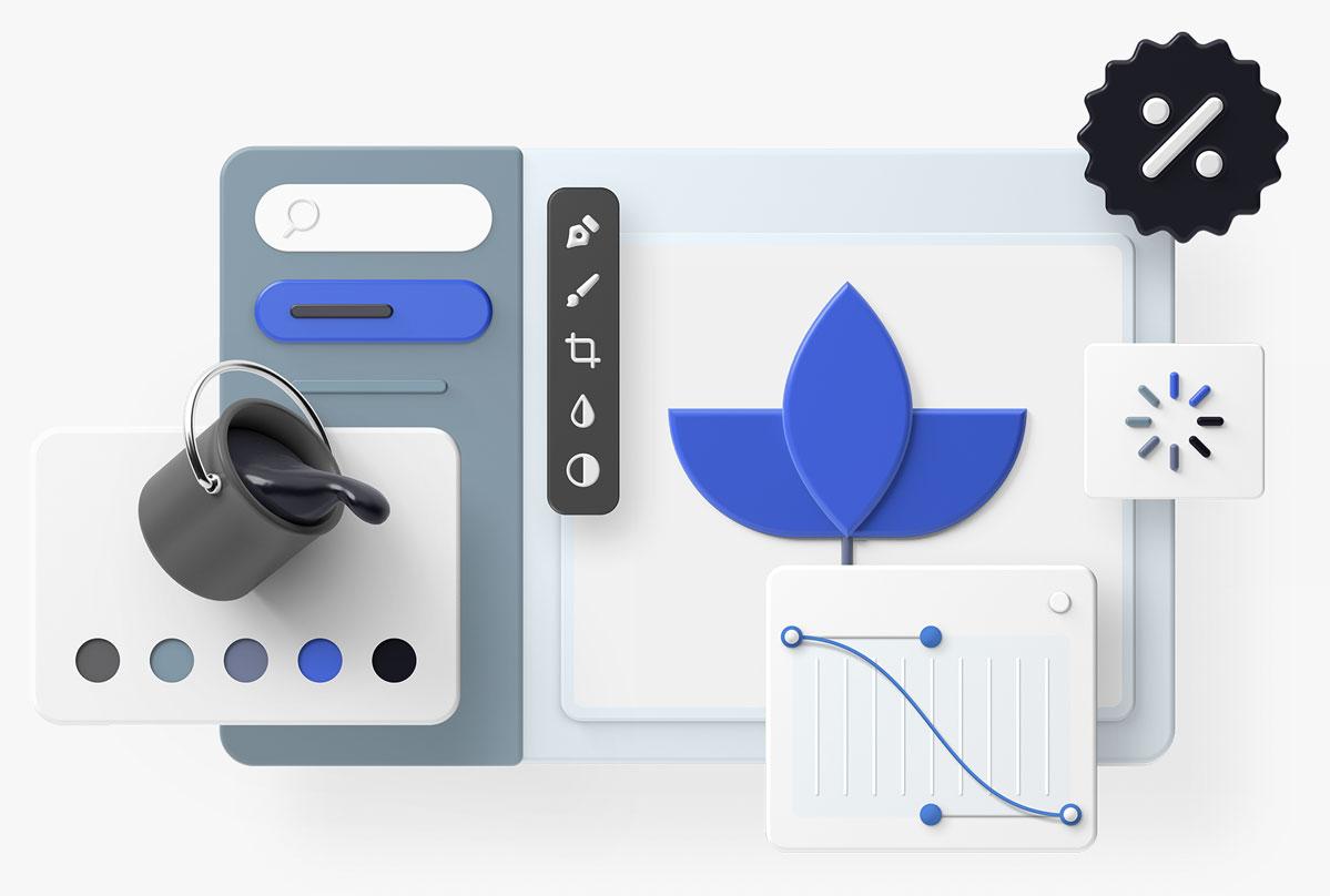 3D Objekte Grafikdesign
